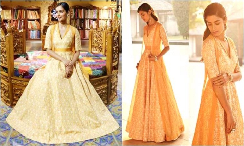 Manushi Chhillar looks lovely as spring in a yellow cape anarkali