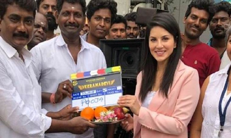 Sunny Leone's Veeramadevi goes on floors in Chennai