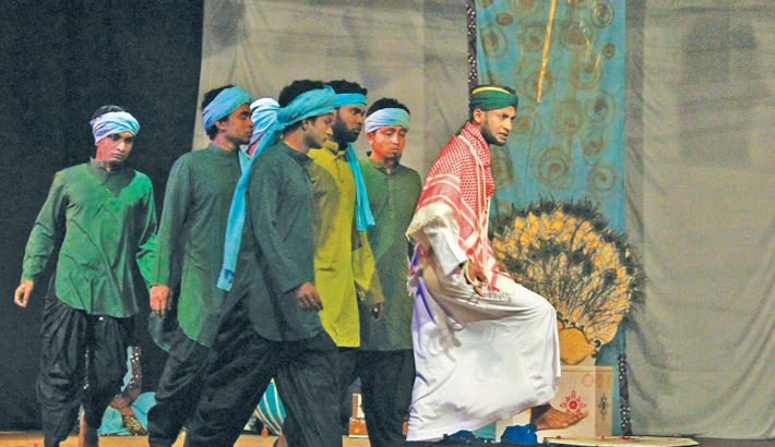 'Nishimon Bisharjan' Staged At JU Theatre Fest