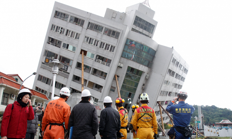 Taiwan rescuers search building for 7 missing in earthquake