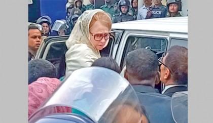 Khaleda jailed for 5 years