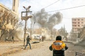 Air strikes batter Syria rebel enclave for fifth day