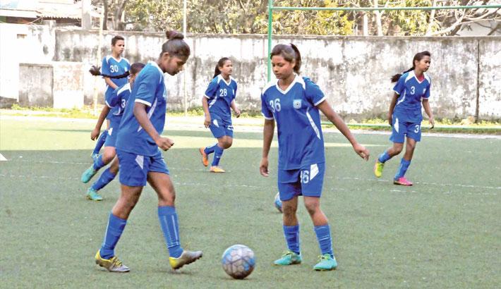 Women soccer players of Bangladesh