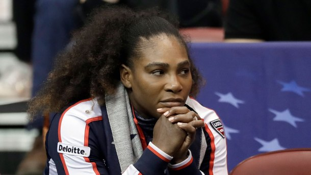 Serena Williams loses in doubles, US advances in Fed Cup