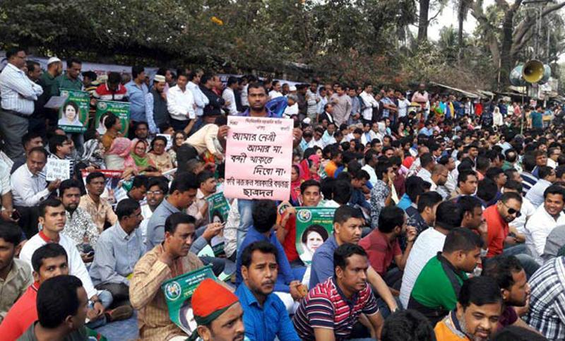 BNP begins hunger strike demanding Khaleda's release
