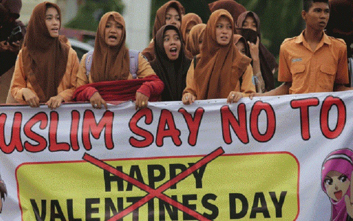 Goodbye to romance: Indonesian cities ban Valentine's Day