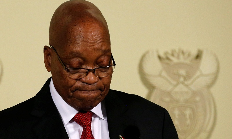 South Africa's Jacob Zuma resigns after pressure from party statement