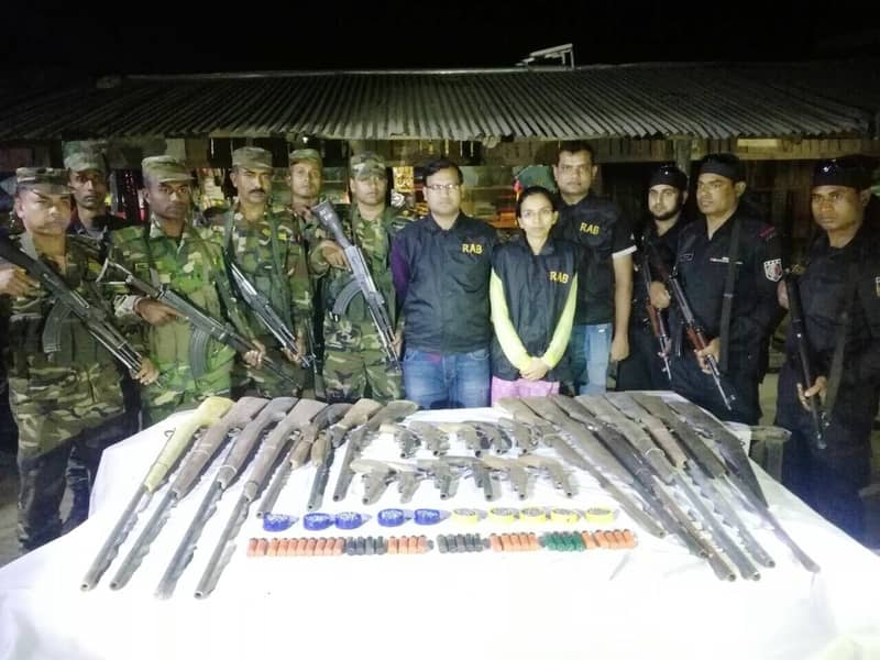 4 'terrorists' held with arms, bullets in Bandarban