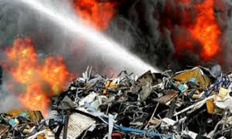 Nine dead in fire at waste facility in China