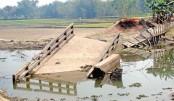 A dilapidated bridge