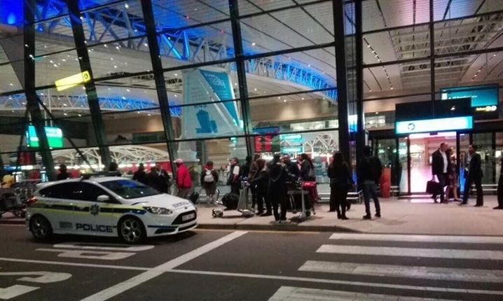 South Africa's main airport evacuated in bomb scare