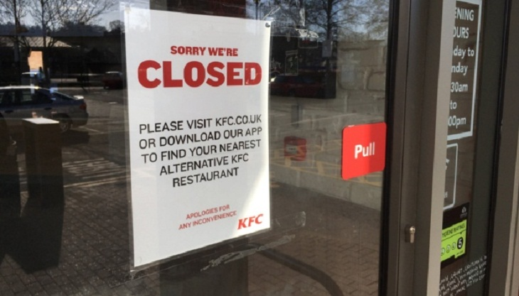 Chicken shortage shuts hundreds of KFC stores in UK
