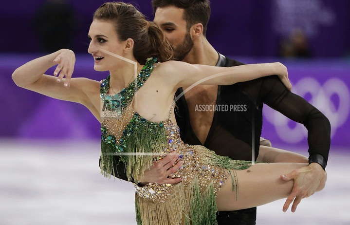 French ice dancer doesn't risk another wardrobe malfunction