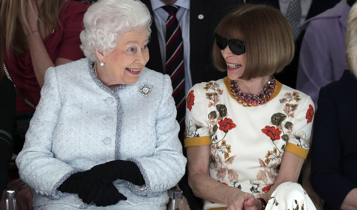 Queen Elizabeth II makes first visit to London Fashion Week
