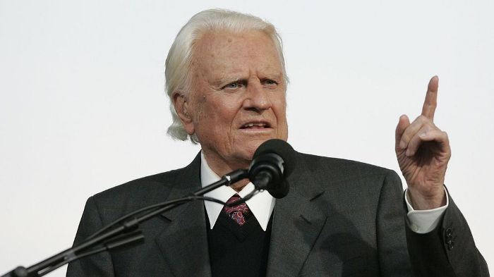 Billy Graham: Influential US evangelist dies at 99in North Carolina