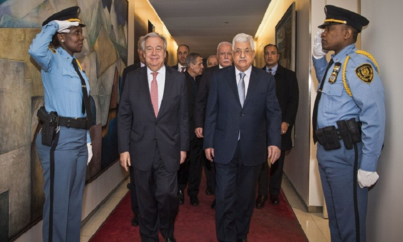 Palestinian leader Mahmoud Abbas calls for peace conference by mid-2018