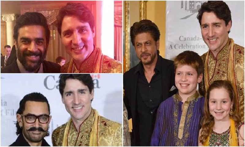Shah Rukh, Aamir Khan, R Madhavan host Canadian PM Justin Trudeau and family