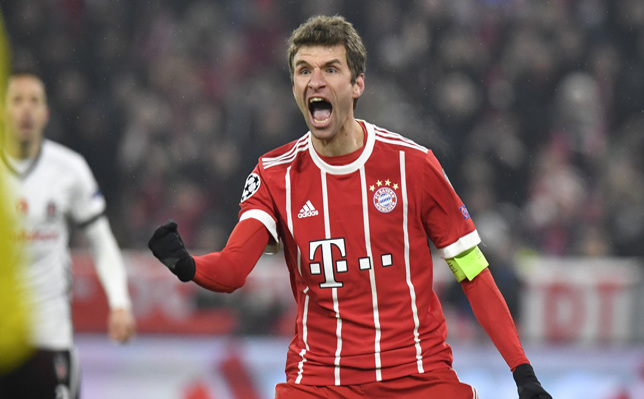 Mueller starts treble talk as Bayern rout Besiktas
