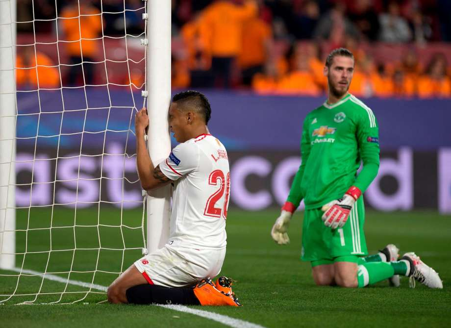 Man United holds Sevilla in CL thanks to De Gea save