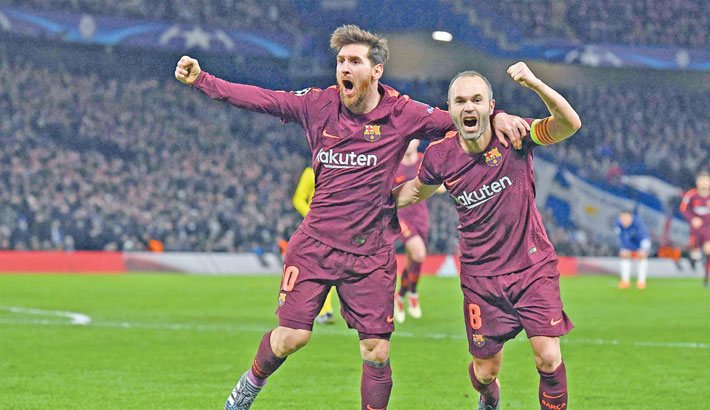 Messi ends Chelsea drought to give Barca last-16 edge