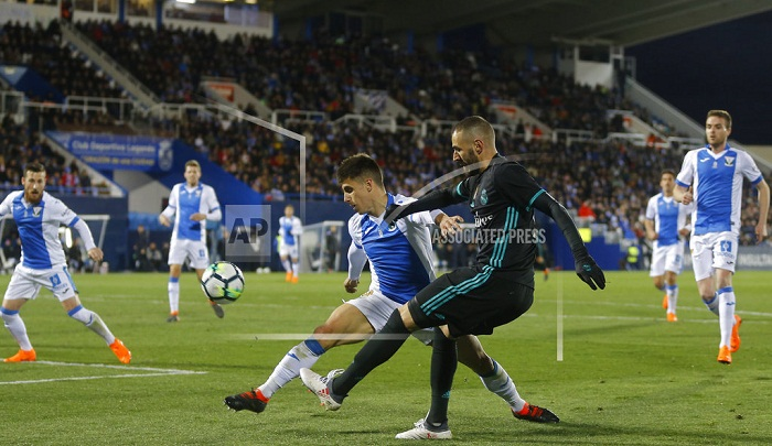 Madrid beats Leganes 3-1 in game postponed from December