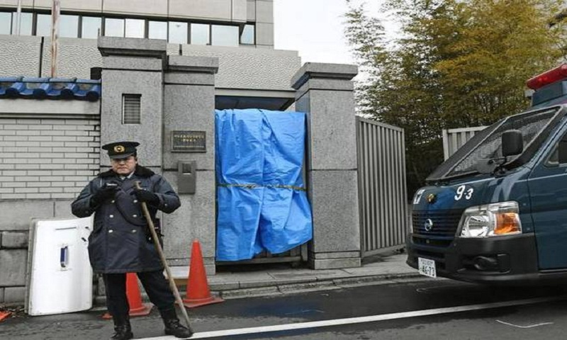 Japanese men nabbed for shooting at defacto N Korean embassy