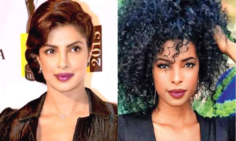 This American model is an insane twin look-alike of  Priyanka Chopra