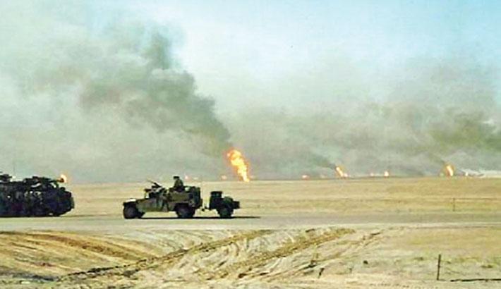 Gulf War ground offensive begins