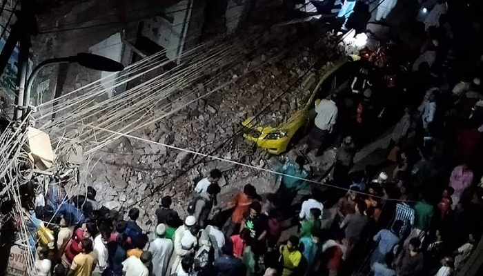 Man injured as wall collapses in city