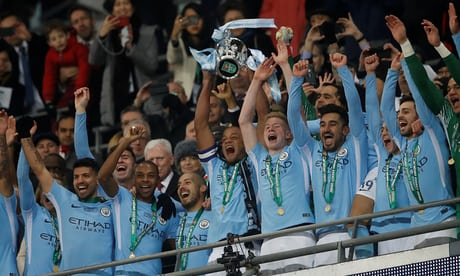 Kompany on target as Manchester City cruise past Arsenal in Carabao Cup final