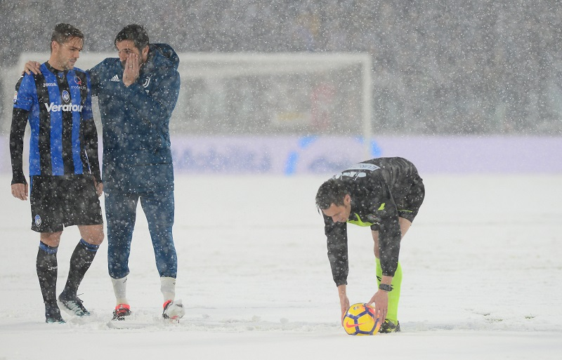 Snow hampering Juventus and AC Milan Cup preparations