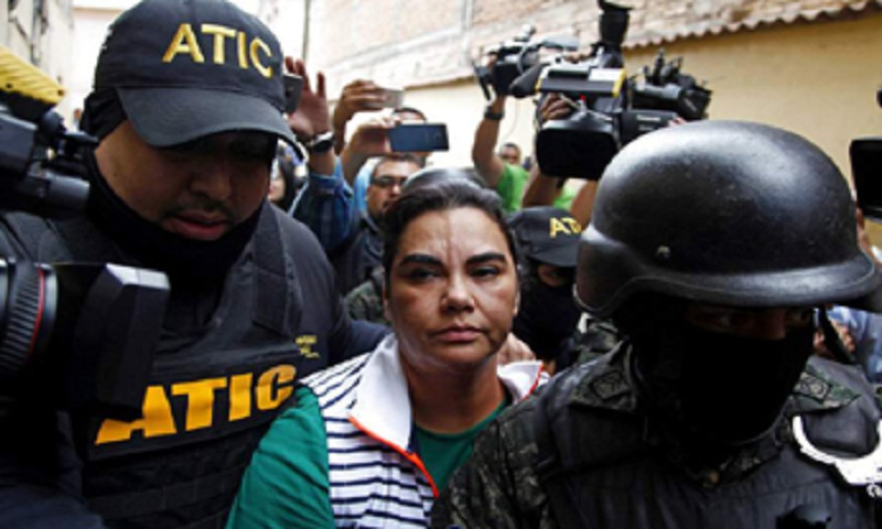 Honduras ex-first lady arrested for embezzlement