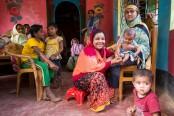 Bangladeshi farmers shelter Rohingya refugees