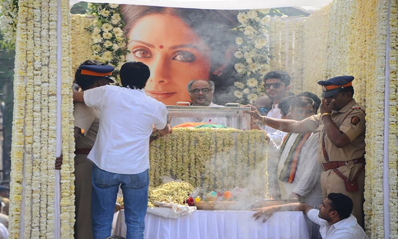 Sridevi - India's first female superstar gets a 3-gun grand salute