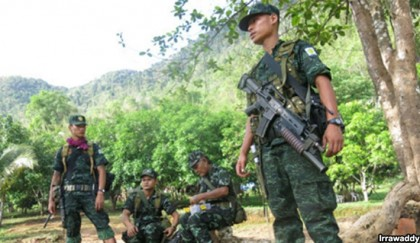 Myanmar forces open  fire along border