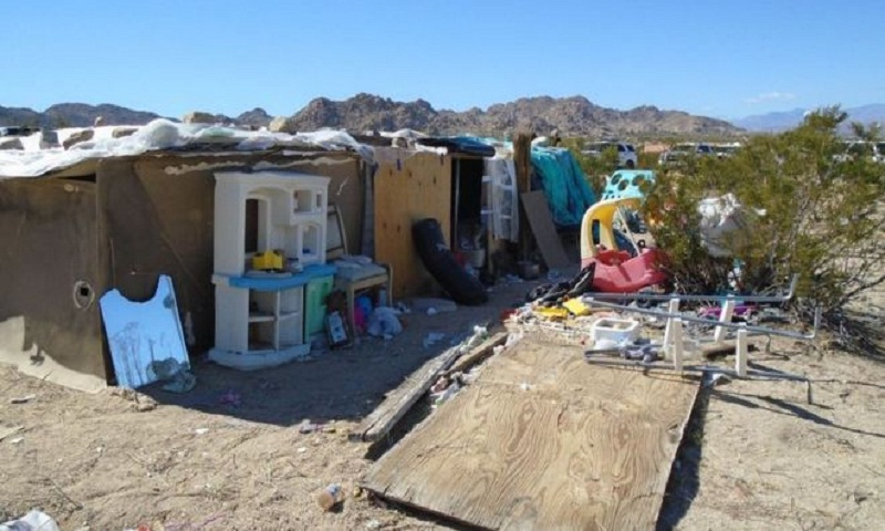 California children lived in desert box 'for four years'