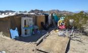 California children lived in desert box 'for four years'