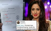 Sridevi's forensic report has 3 major spelling mistakes. Twitter trolled UAE ministry and called it fake