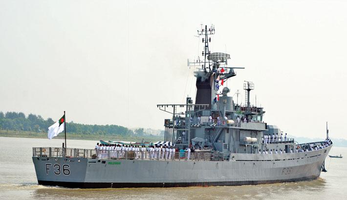 Warship BNS Dhaleshwari leaves for India