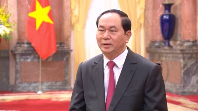 Vietnam President Quang in city