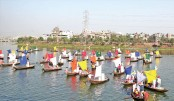 Boat rally held at Hatirjheel ahead of Nat'l Jute Day