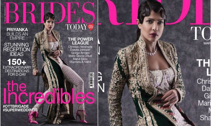 Priyanka Chopra graces on Brides Today cover