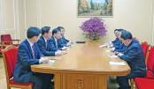 South Korean delegation meets  N Korean leader Kim Jong Un