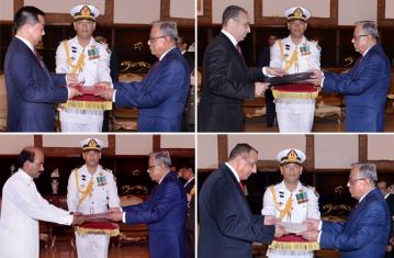 Four envoys present credentials to President