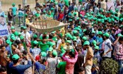 Awami League activists flock to Suhrawardy Udyan for rally