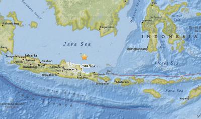 5.7-magnitude quake strikes off eastern Indonesia