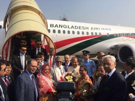 Red carpet rolled out as President arrives in India