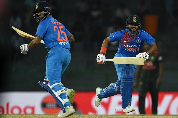 Dhawan powers India to six-wicket win over Bangladesh