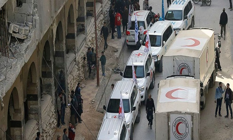 Red Cross postpones aid convoy to Damascus rebel-held suburb