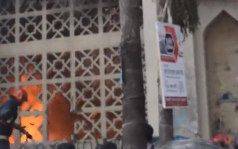 Fire breaks out at Baitul Mukarram Mosque godown